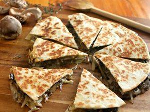 receta de quesadillas de champiñones u hongos